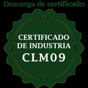 certificado de industria CLM09